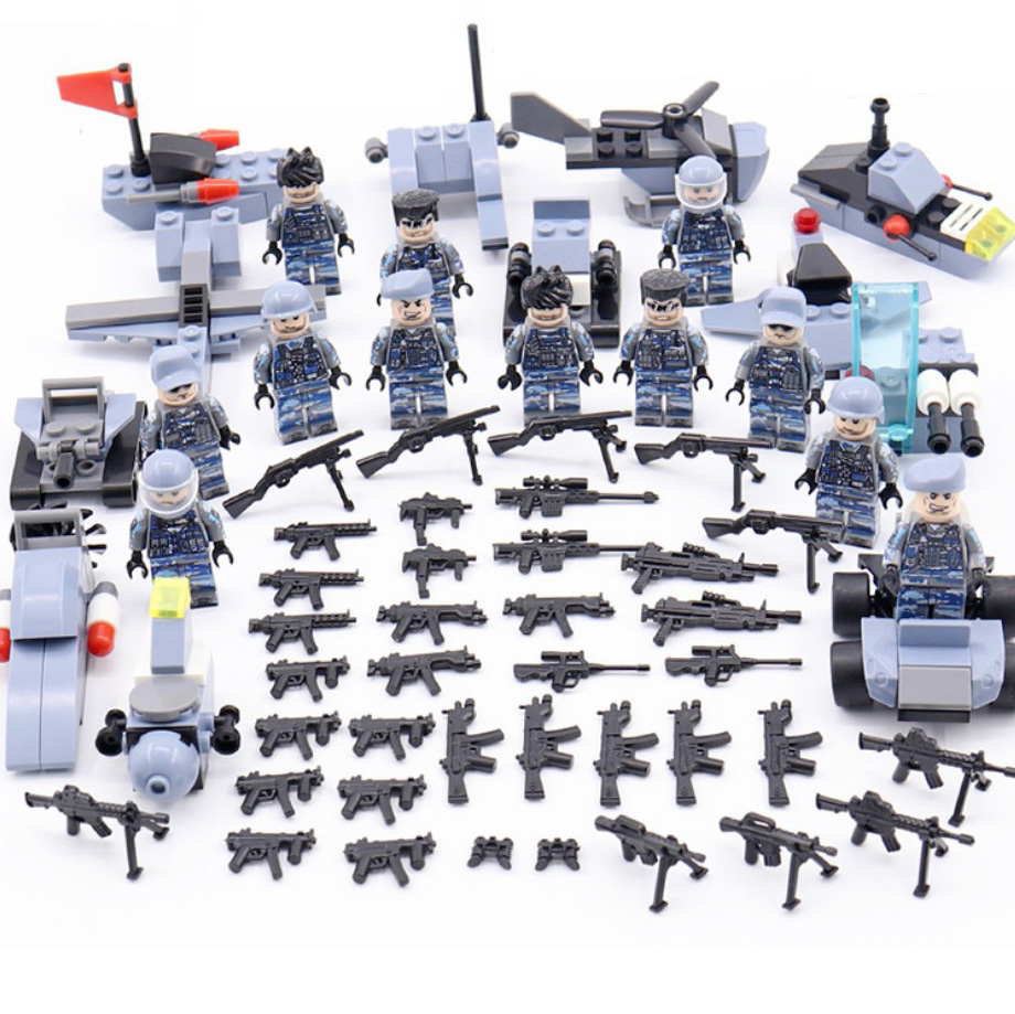 Modern military brickmania Hurricane assault minifigs building