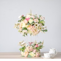 Искусственные Свадебные цветы стол цветок дорога декоративный шар из цветов Цветочная композиция к столу Бесплатная доставка