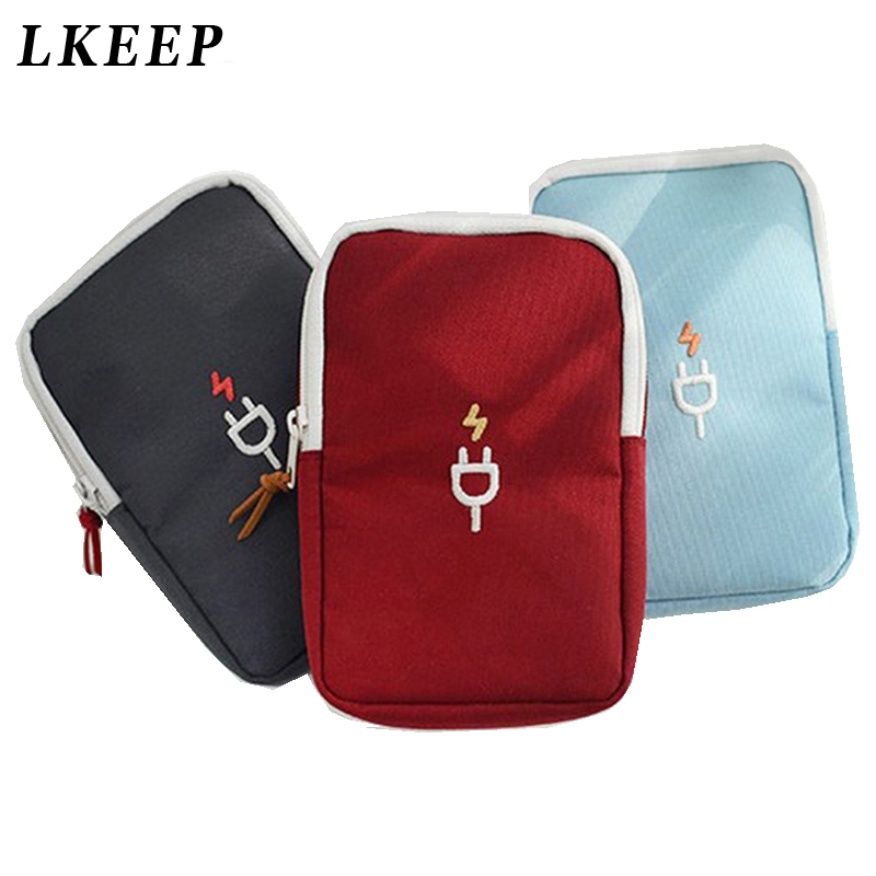 New Digital Bag Data Lines Power Bank Package Portable Multi-function Travel Pouch Case Accessories Supplies Packing Organizers