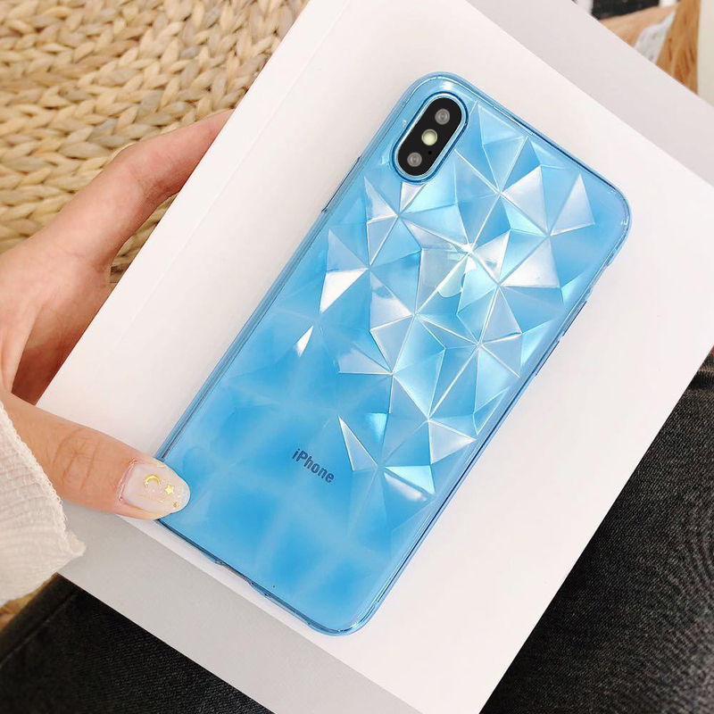 3D Diamond Soft Case For Huawei P20 mate 20 10 lite P30 Y7 Pro P smart 2019 Silicon TPU Case On Honor 8X 8A pro 10 9 Lite play8A