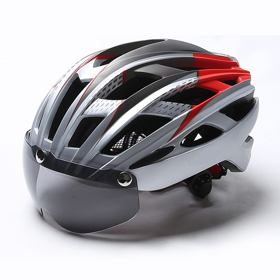 Cycling Helmet With Goggle MTB Helmet Bike Mountain Road Light specialiced Helmet Bicycle ultraligFor Men Women Integrally Mold