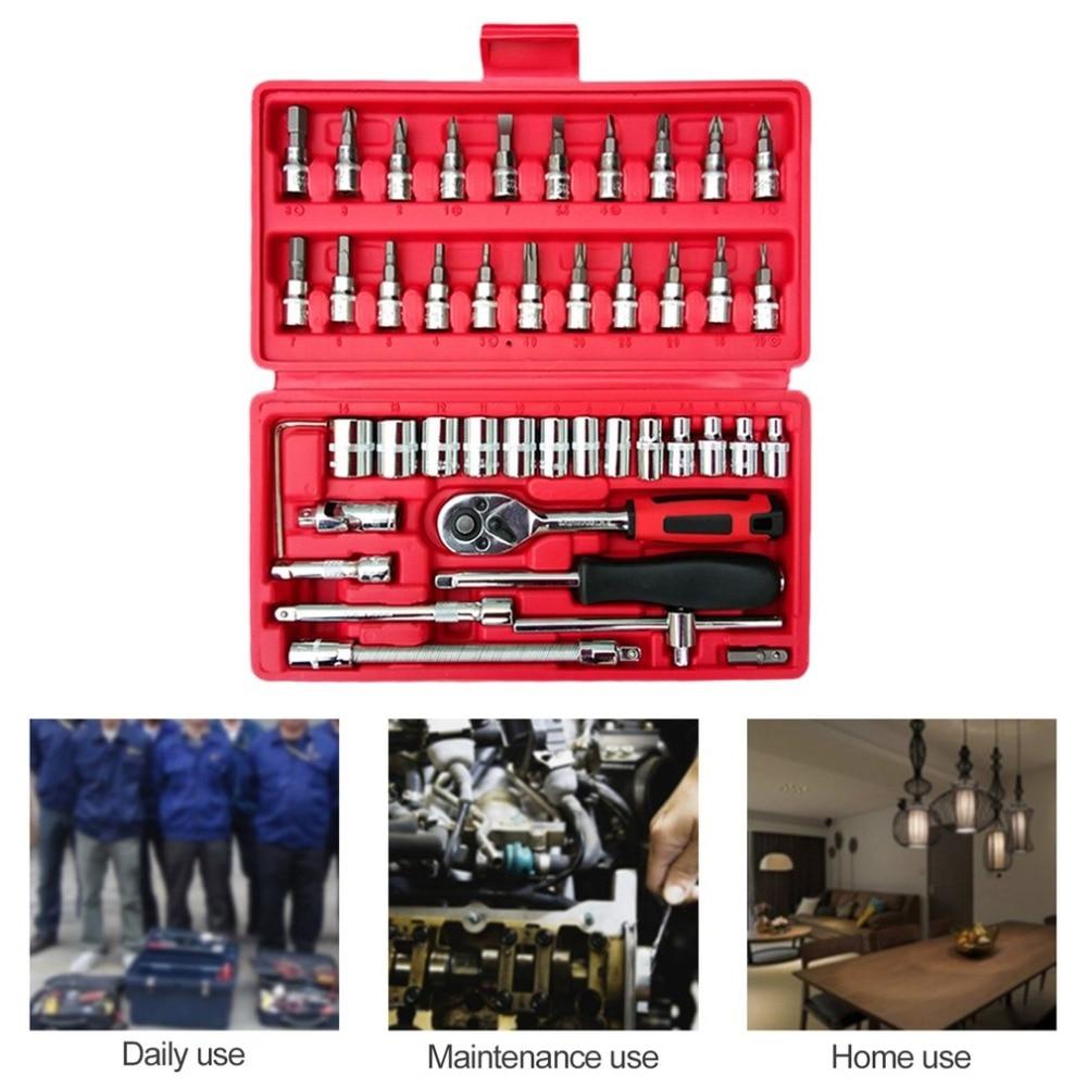 Tool Torque Wrench Set Micro Standard Deep Metric Inch Assorted Set Car Maintenance Tools Professional Auto Repair 46pcs/set