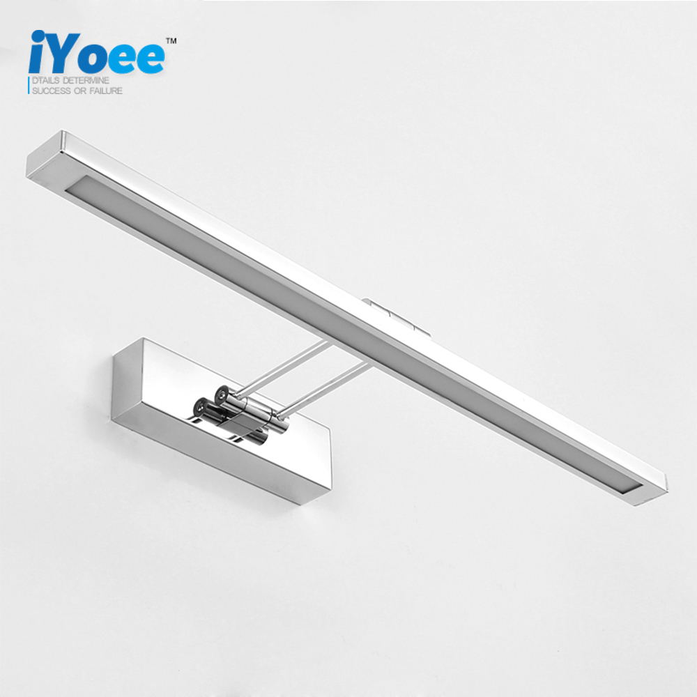 Freeshipping salle de bains led miroir lumière ac85 265v sans fil make up design moderne