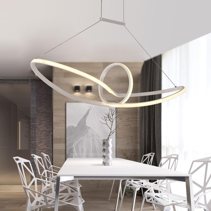 Remote Control Mordern Pendant Lamp for Living Room Dimming led Pendant Light Acrylic Aluminium Indoor lighting keyshare dual bulb night vision led light kit for remote control drones