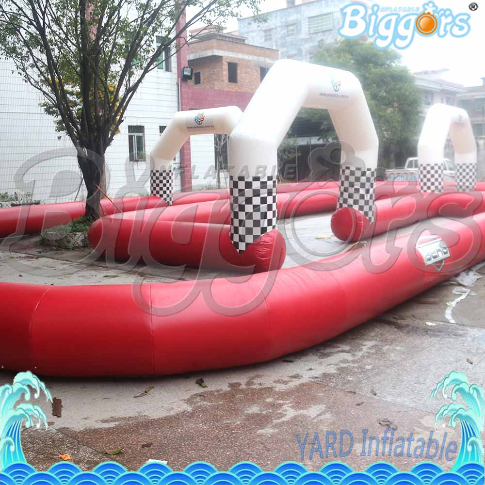 Sea Shipping Amusment Game Inflatable Zorb Ball Race Track Go Kart Race Track For Sale commercial sea inflatable blue water slide with pool and arch for kids
