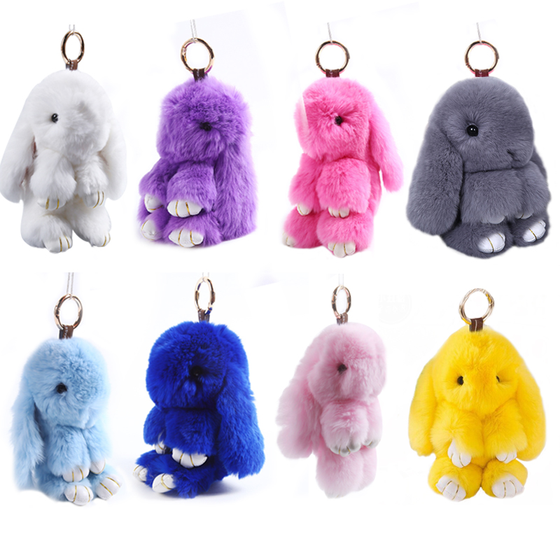 14cm Play Dead Rabbit Fur Rabbit Bunny Keychain Fashion fur pom pom Rabbit Toy Doll Hanging Pendant new luxury pu leather wallet business vintage credit card holder back cover case for iphone x s