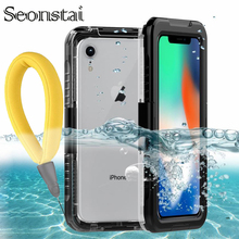 IP68 Real Waterproof Case for iPhone X 8 7 Plus 6 6S Plus Full Protection Cover Under Water Diving Cases for iPhone XR XS Max