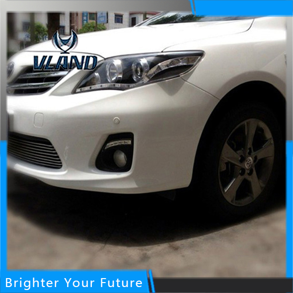 LED Daylight For Toyota Corolla 2011-2013 White LED Daytime Running Lights DRL Front Fog Lamp free shipping hot sale or01a4 front wheel motor 80mm kit ce en15194 approved