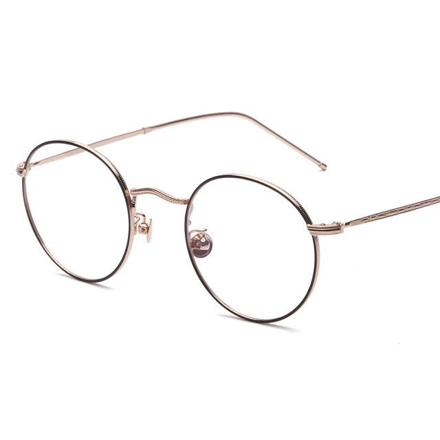 Vazrobe Vintage Small Round Eyeglasses Frame Men Women Decorative ...