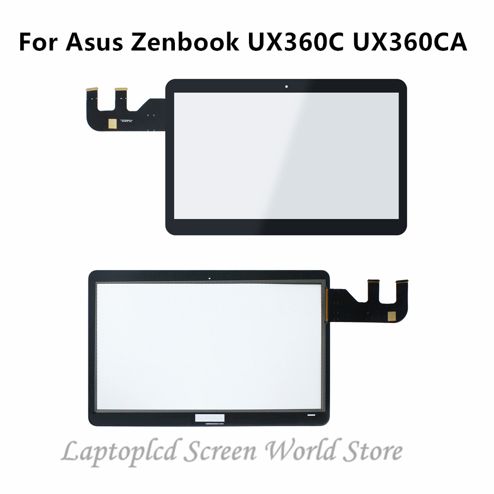 FTDLCD 13.3 inch Touch Screen Front Glass Digitizer Replacement for ASUS ZenBook Flip UX360C UX360CA-AH51T UBM1T UHM1T No Bezel