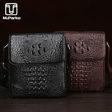 McParko Crocodile Leather Shoulder Bag Men Genuine Leather Bag For Men Business Luxury Messenger bag Male Handbag Brown Black yuanyu 2017 new hot free shipping crocodile leather men bag luxury single shoulder bag business leisure travelers men handbag