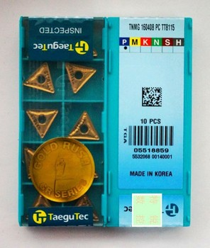 from South Korea Taegutec Carbide  inserts   TNMG160408PC TT8115  wholesale TNMG 160408 PC TT8115 for  steel