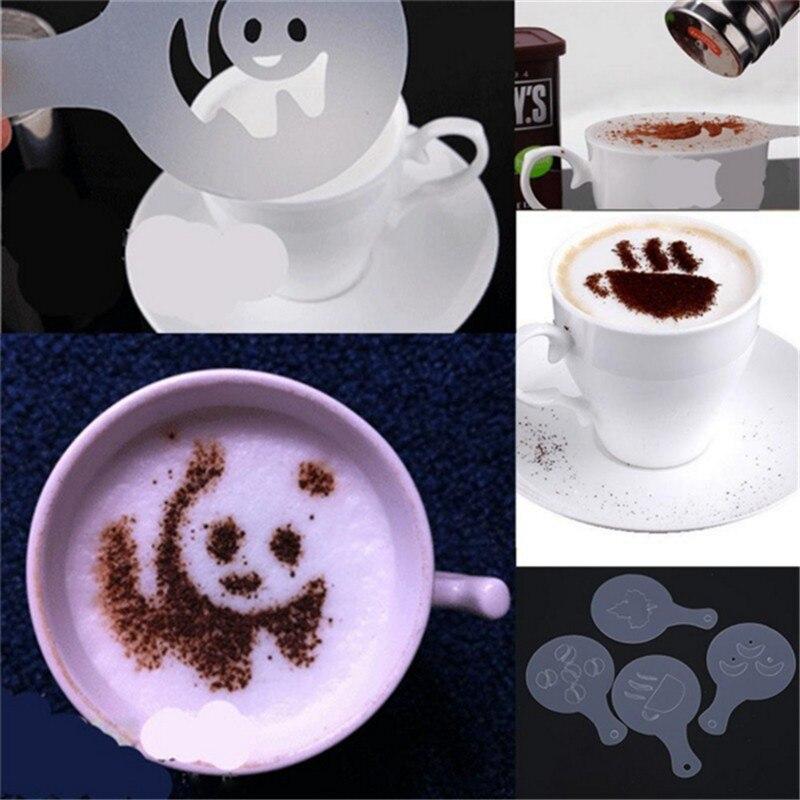 16 Pcs/Lots Coffee Milk Latte Art Mold Fancy Cappuccino