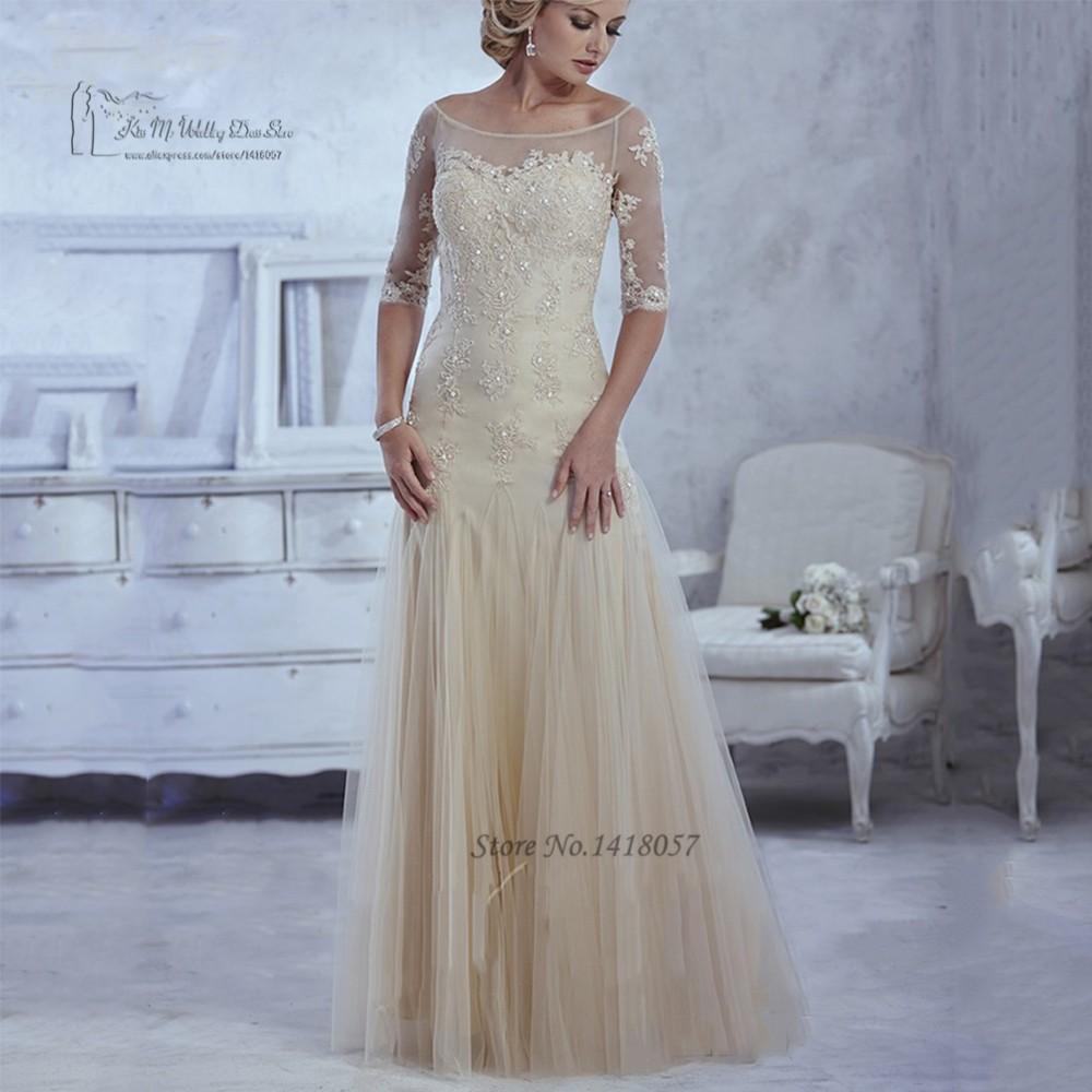 aa928bf2234 Шампанское мать невесты платья брючный костюм кружевные длинные ...