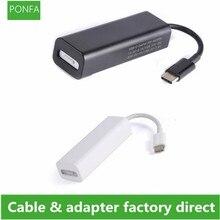 Кабель USB 3,1 Type C Male Magsafe 2 5Pin Female, адаптер шнура конвертера, подходит для ноутбуков, смартфонов с портами для USB C