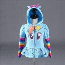 New 2018 Girls little pony Kids Jacket my Children's Coat Cute Girls Hoodies & Girls Jacket Children Clothing Cartoon