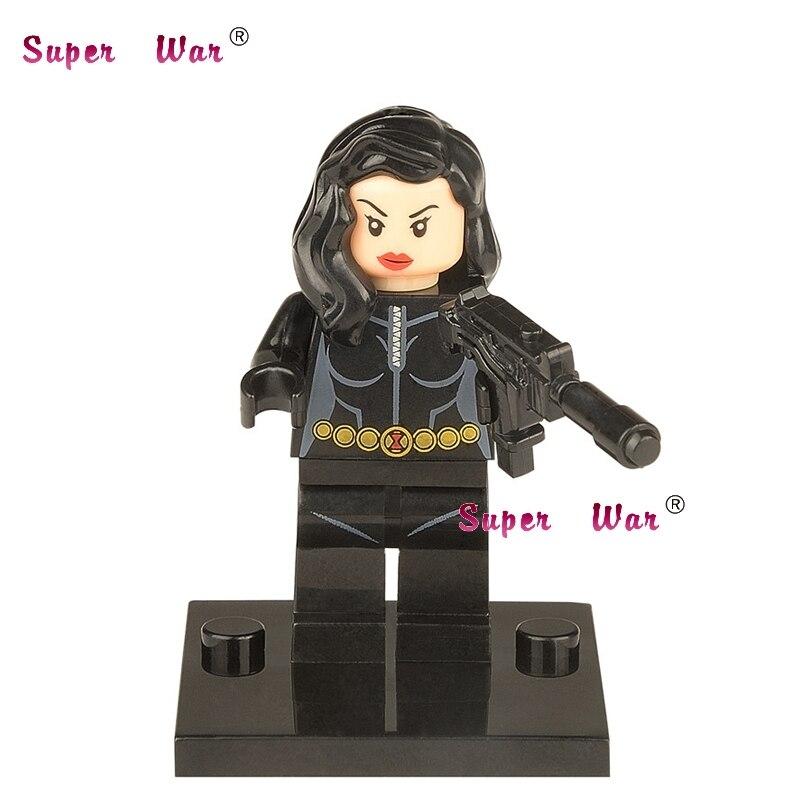 50pcs superhero Black Widow building blocks action bricks friends for girl boy house games kids children