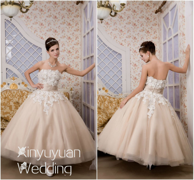 Real Sample Short Bridal Gown Fashionable Weding Dress
