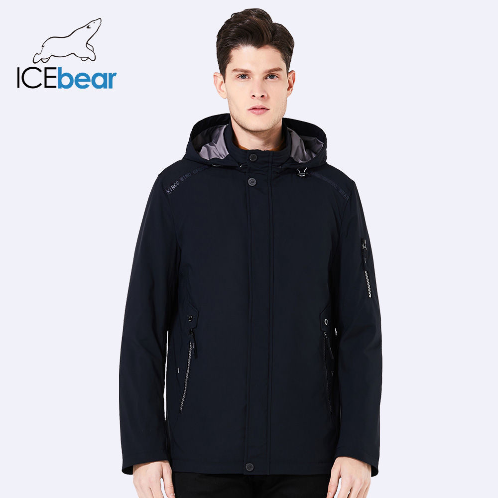 ICEbear 2018 Casual Autumn Business Men's Jacket Short Overcoat Hoodie Tops Man Coat Spring Fashion Brand Men Coats MWC18040D