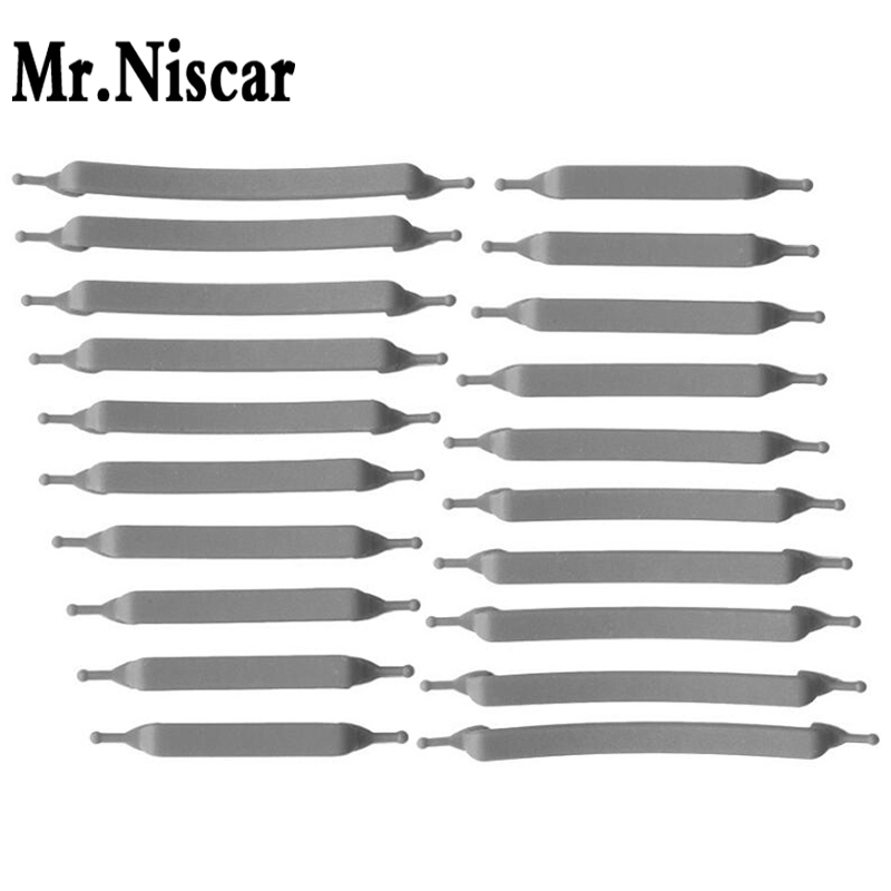 Mr.Niscar 1Set/20Pcs Free Shipping New Arrival Arrow Grey Unisex Athletic Running No Tie Shoelaces Elastic Silicone Shoe Laces