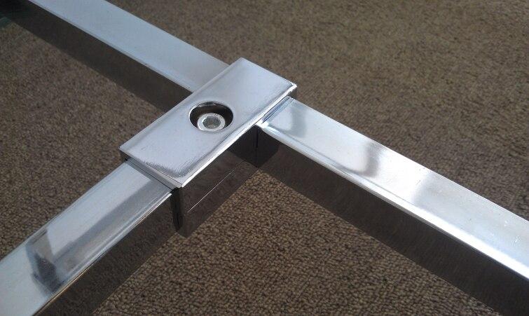 Pcs lot way mm square tube clamp pipe chrome