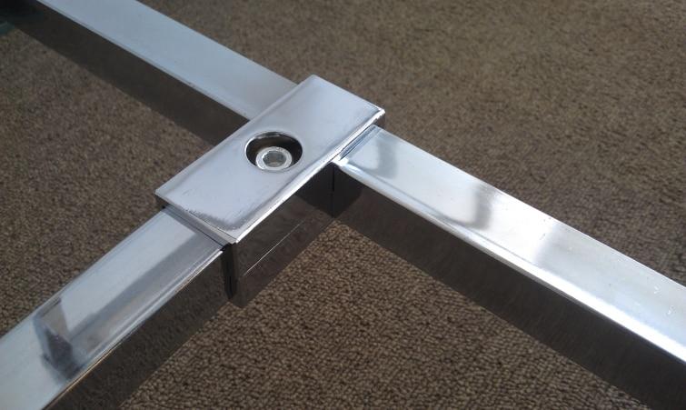 Pcs lot premintehdw way mm square tube clamp