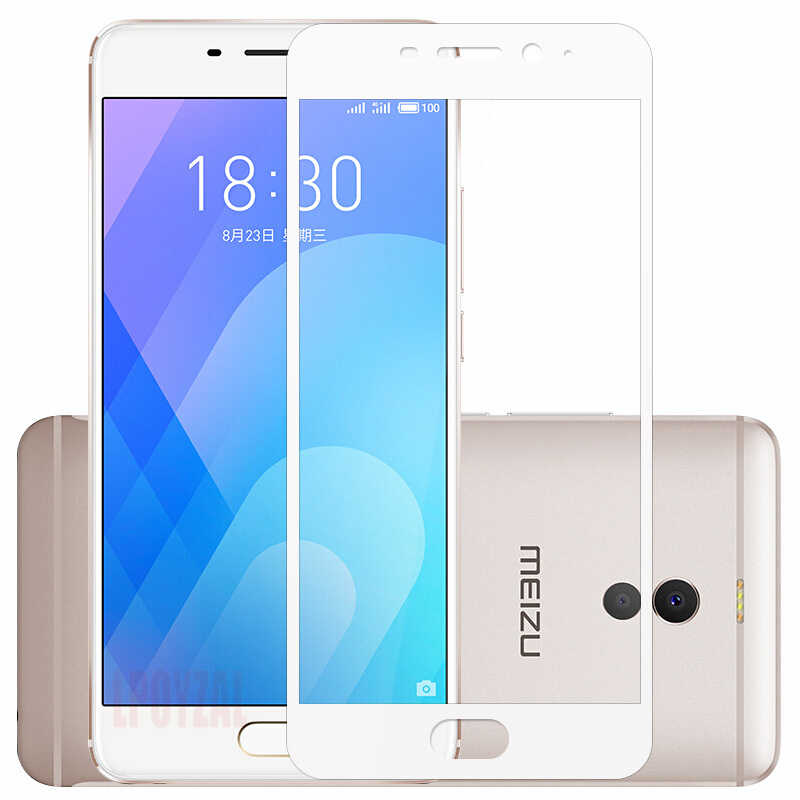 LPOYZAL Full Cover Tempered glass For Meizu Note M6 M8 Pro 6 7 Plus Screen Protector For MEIZU M3S 15 16 Plus Glass Film