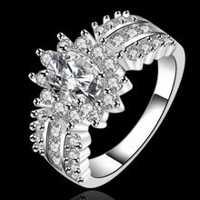 Luxury Silver Cushion cut 3ct SONA Diamond CZ Engagement Rings Jewelry 925 Sterling Silver Wedding Finger Flower Rings For Women(China)