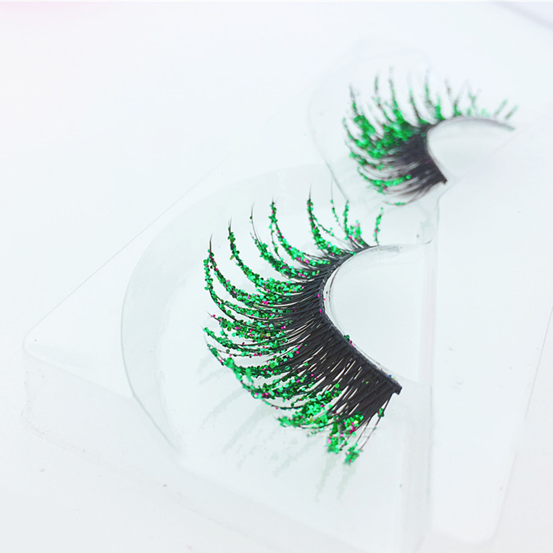 5 Colors Exaggerated False Eyelashes Theatrical Artistic Creativity Modeling Makeup Lashes Thick Sequin Fake Eyelashes