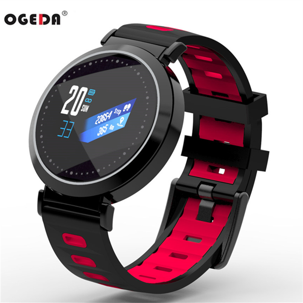 OGEDA Sport Health Smart Watch Bracelet Call information 0.96 inch LED Color screen Heart rate Sleep monitoring Better than y5 goral y5 smart bracelet 0 96 inch tft color screen