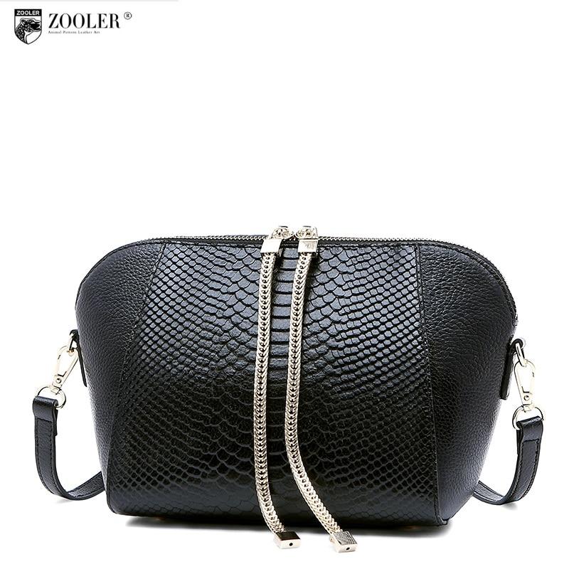 losing sales ZOOLER genuine leather bag brands women bag 2016 new serpentine pattern women Shoulder Bag cowhide cross body #1211
