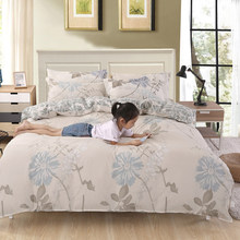 Village Flower Pattern Duvet Cover Bedding Set Adult Kid Child Single Twin Queen King Size Bed Linen Quilt Comforter Case24(China)