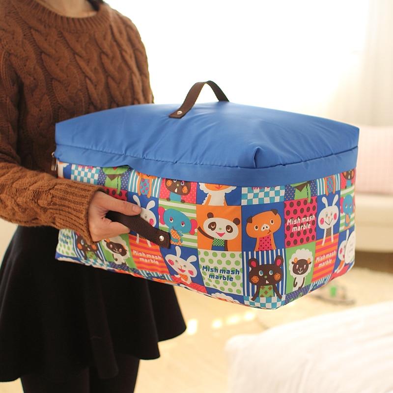 Conveniente Bolsa de almacenamiento Ropa Almohada Manta Edredón Suéter Organizador Caja de la bolsa recibir organizar cubrir ropa locker60105