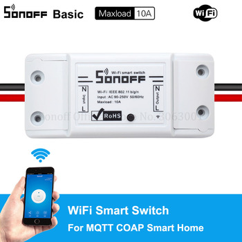 Cheap Sonoff Basic Wifi Switch Universal DIY Remote Wireless Smart Switch Domotica Wifi Light Switch Smart Home Works with Alexa 1