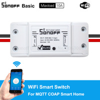 Cheap Sonoff Smart Wifi Switch Universal DIY Remote Wireless Smart Switch Domotica Wifi Light Switch Smart Home Works with Alexa Home Automation Modules