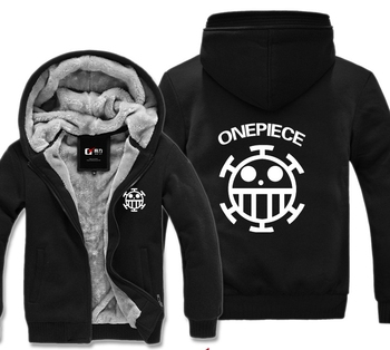 One Piece Trafalgar Law Pirates Of Hearts Winter Hoodies Sweatshirt Men Casual  Male Jackets Hoody Cloak Shawl Men Cloth
