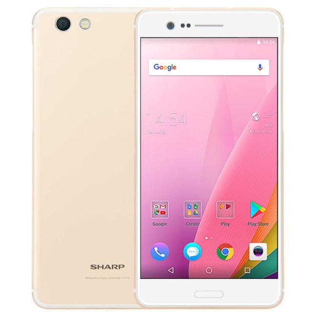SHARP Z3 FS8009 4G B Оперативная память 6 4G B Встроенная память Snapdragon 652 1,8 ГГц Octa Core 5,7 дюймов 2.5D 2 К WQHD Экран Android 7,0 4G LTE смартфон