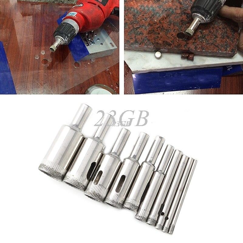 Diamond Tool Drill Bit Hole Saw For Glass Ceramic Marble Tile 3mm-18mm 10PCS/SET JUL27_20 punch 10 mm nickel plating glass drill bit marble ceramic tile x 6