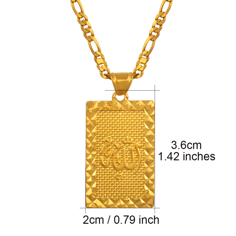 Image 3 - Anniyo Prophet Mohammed Allah Pendant Necklace Women Men Gold  Color Jewelry Middle East/Muslim/Islamic Arab Ahmed #085106necklace  womenpendant necklacemen gold