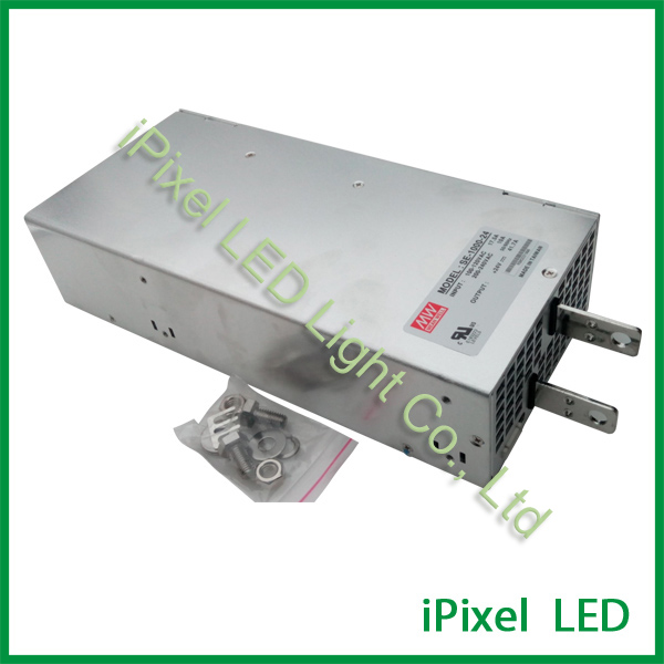 Meanwell SE-1000-24 110v 220v Ac To Dc Led Driver 1000w 42A 24v Industrial Switching Mode Power Supply
