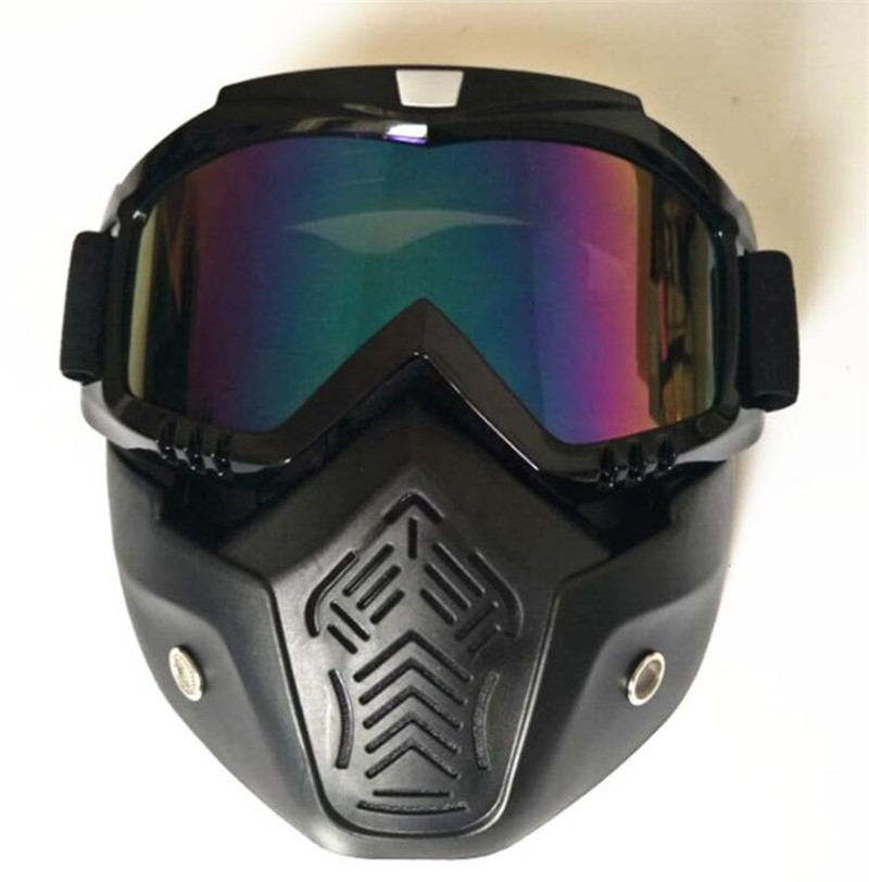 New Mens Womens Windproof Anti-fog Motorcycle Motocross Racing Goggles Helmet Sunglasses Face Mask Protective Gears