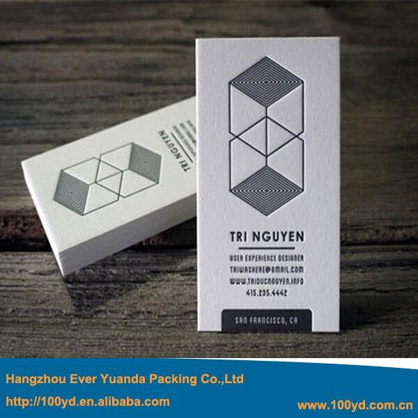 Boutique Haute Rsolution Design Personnalis Logo Impression Carte De Visite Grav Typographie Vertical 600gsm Coton Papier