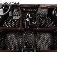 zhoushenglee car floor mats for Bmw 5 series E34 E39 E60 E61 F07 GT F10 F11 F18 2004 2018 Custom automobile carpet covers auto