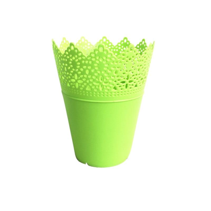 Высокая Класс Цветочные Полые Дизайн ваза одноцветное Цвет декоративные домашние маленькие дешевые Пластик ваза для Свадебные украшения