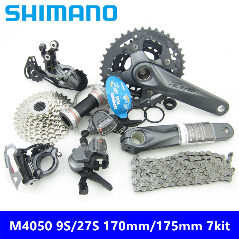 Imported From Abroad Free Shipping New Original Shimano Alivio M4000/m4050 9-speed 27-speed Mountain Bike Shifting 7-piece Shifting Kit 170/175mm Ample Supply And Prompt Delivery Sports & Entertainment Bicycle Derailleur