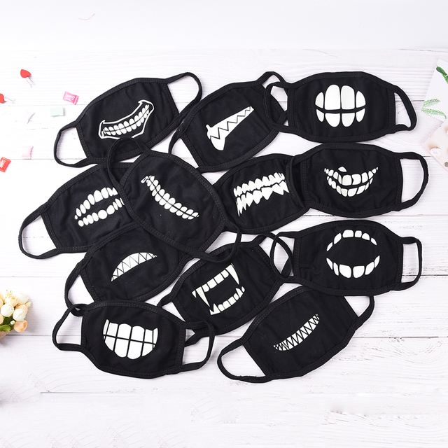 1Pc Mouth Mask Light In The Dark Anti Dust Keep Warm Cool Mask Cartoon Mouth Muffle Face Mask Emotiction Masque Kpop Masks 2