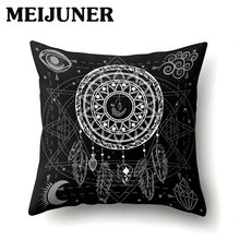 Dream Catcher Meijuner Boêmio Capas de Almofada 45*45 Throw Pillow Covers Capa de Almofada Decorativa para Sofá Quinta MJ224(China)
