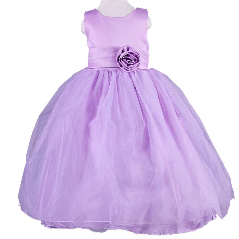 Summer Bow Tutu Party Children Girl Dress Hot Sale Tulle Clothing Princess Kid Dresses Casual Girls Cloth Birthday Wedding Dress