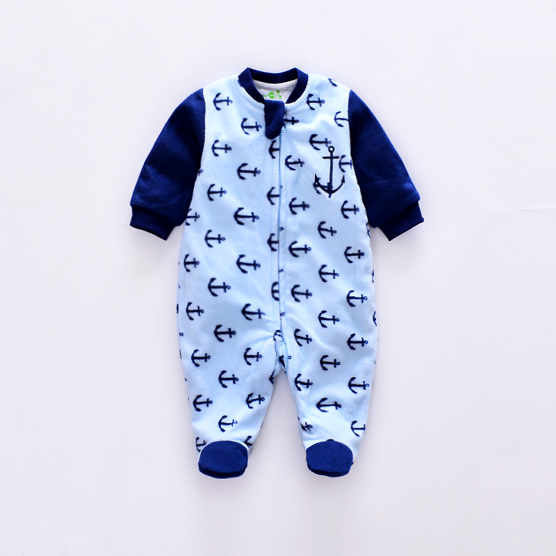 NEW Baby Fleece Winter Rompers Soft Boys Girls Warm Infant Romper Jumpsuit Children Outerwear Baby Cartoon Wear