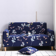 Floral Elastic Sofa Cover Sectional Stretch Slipcovers for Living Room Couch Cover L Shape Armchair Cover 1/2/3/4 Seat(China)